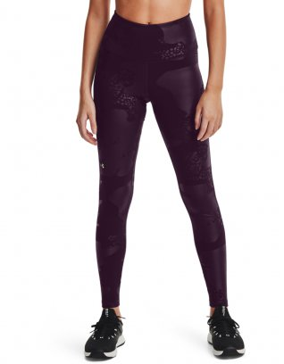 UA Rush Tonal Leggings NS Fioletowy