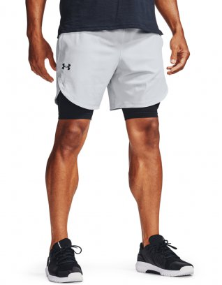 UA Stretch Woven Shorts Szary